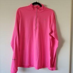Nike Hot Pink Long Sleeve Running Top - Size XL
